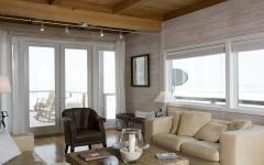 salon moderne résidence de vacances en kit sur pilotis dunes plage