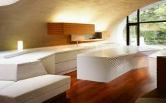 intérieur maison moderne futuriste