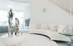 canapé blanc design moderne résidence secondaire