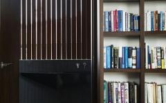 bibliothèque maison contemporaine d'architecte