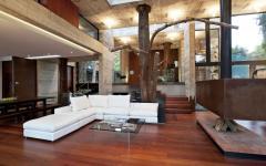ameublement minimaliste de luxe séjour grande belle demeure