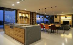 salle à manger minimaliste cuisine ouverte