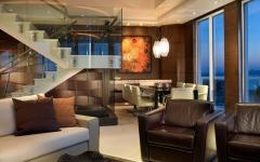 grande pièce de vie appartement de vacances luxe