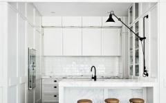 cuisine épurée minimaliste blanche maison de ville