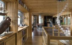 Intérieur au design moderne maison en bois