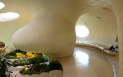 couloir intérieur circulaire maison coquillage