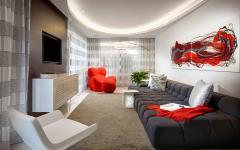 salon tv à l'ameublement design moderne créatif