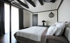 bel chambre noir et blanc appartement