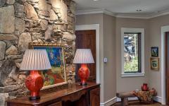 intérieur couloir chalet en bois luxe