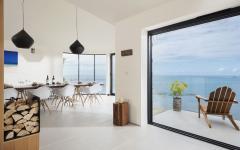 intérieur moderne et lumineux maison rénovée à louer