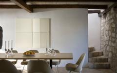 mobilier design minimaliste maison rustique