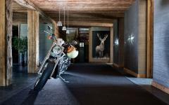 intérieur aux touches bois brutes villa rustique alpes