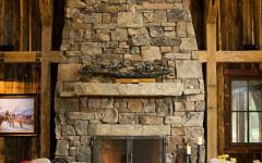 esprit montagne cheminée en pierre
