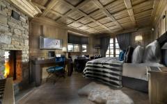 intérieur rustique en bois massif chalet alpin de luxe