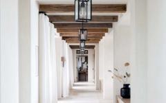 intérieur éclectique couloir blanc