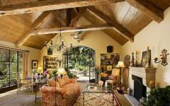 maison intérieur fer forgé bois massif
