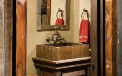 salle de bain design brut rustique