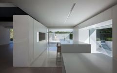 cuisine design futuriste blanc