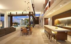 pièce de vie spacieuse et luxueuse maison d'architecte