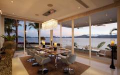 intérieur vue panoramique salle à manger villa phuket