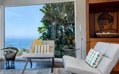 fauteuils maison luxe avec vue mer