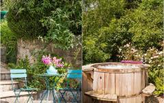 jacuzzi aménagement outdoor cottage à louer