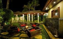 patio villa de luxe vacances hawaii