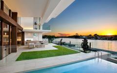 piscine et terrasse maison de luxe