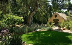 jardin maison rustique de luxe