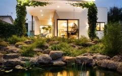 aménagement outdoor lac artificiel jardin