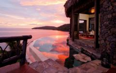 ambiance romantique Laucala luxe resort
