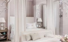 chambre à coucher moderne lit à baldaquin