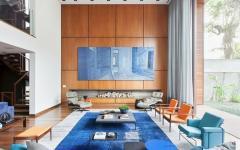 séjour luxe en bois maison design