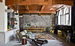 séjour spacieux design industriel