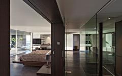 intérieur en bois massif duplex moderne