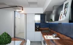 cuisine design rustique appartement de ville