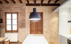 cuisine retro design rustique appartement