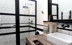 salle de bain originale cabine de douche retro