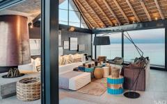 séjour vitré villa de luxe