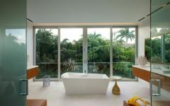 baignoire moderne avec vue
