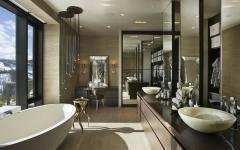 salle de bains luxe unique chalet