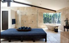 salle de bain luxe design rustique