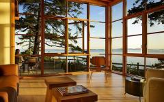 villa de vacances, maison en bois belle demeure lac