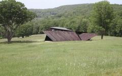 vue éloignée maison à l'architecture contemporaine