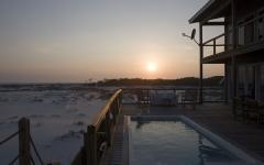 terrasse maison en kit sur pilotis plage