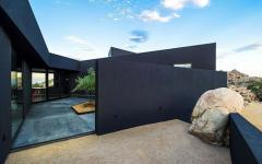 résidence de standing en noir