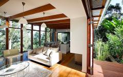 intérieur lumineux luxueuse maison moderne verte
