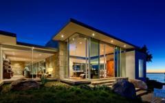 design contemporain maison vitrée