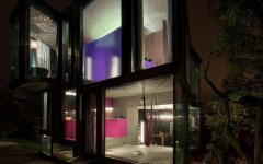 maison d'architecte suisse vue de nuit