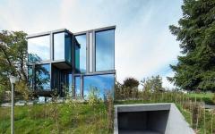maison en verre aspect contemporain